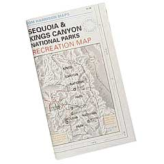 Sequoia Map, Kings Canyon