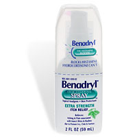 benadryl spray