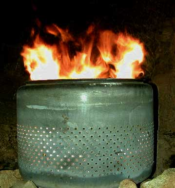 Old Washtub Fire Pit