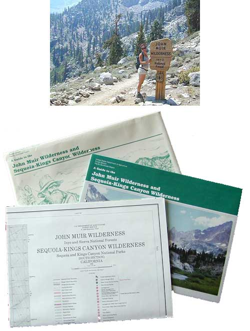 John Muir Wilderness / Kings Cyn Map