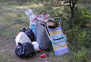 Garbage while Camping