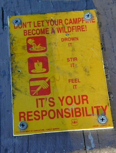 California Campfire Restrictions