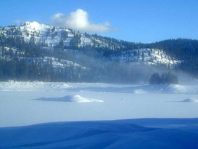 Lake huntington california sierra snowmobiling kaiser pass for Huntington lake fishing
