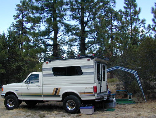 4x4 Ford Camper at a Big Bear Campout