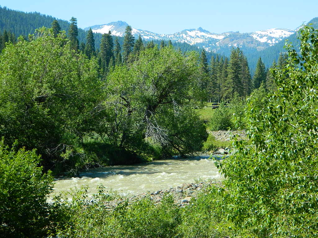Mill Creek w/ Lassen Peak