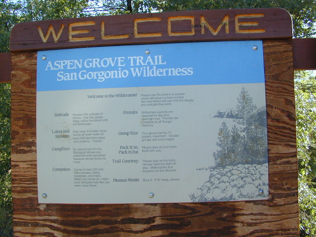 Gorgonio Trailhead
