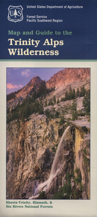 Trinity Alps Hiking Map