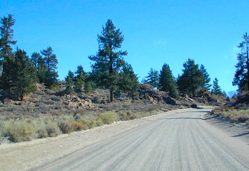 graded dirt road