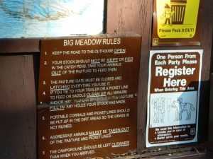 Big Meadow Rules