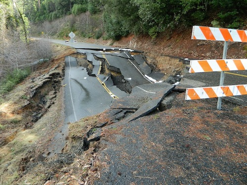 Landslides in California
