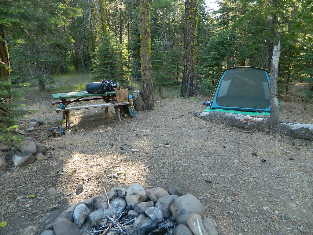 Lassen Camping for Free, Mill Creek @ 172